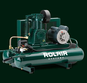 Rolair 5715K17 Twin-Tank 1.5HP Electric Air Compressor