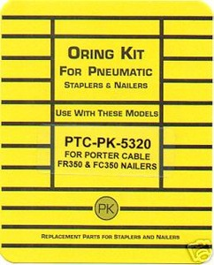 Porter Cable FR350,FC350,FM350 Framing Nailer O`Ring Repair Kit