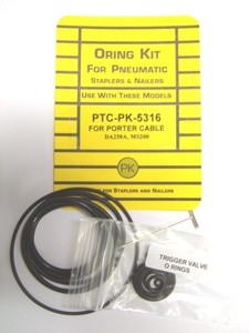 Porter Cable DA250A,MS200 Angle Finish Nailer O`Ring Repair Kit